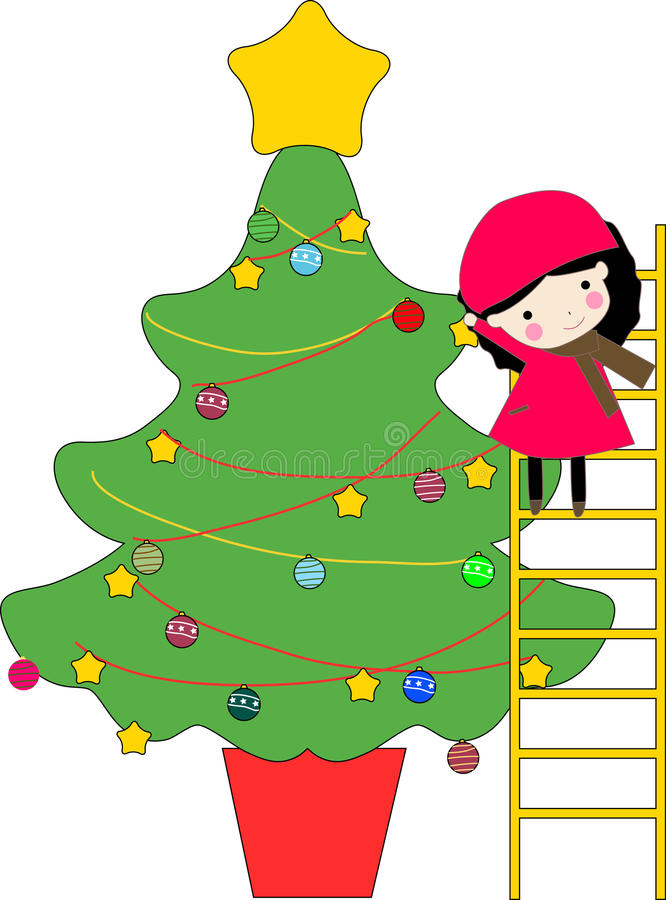 Download Kid and christmas tree stock vector. Illustration of child - 11772223