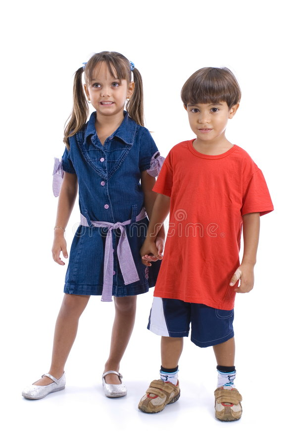 Kid couple royalty free stock photography