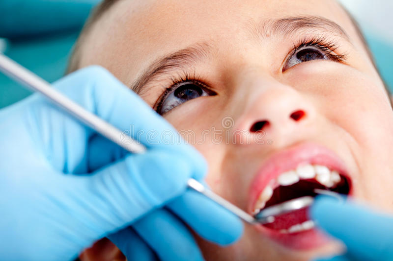 Download Kid at the dentist stock photo. Image of ache, anxious - 22792066