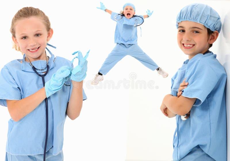 Kid Doctors royalty free stock image