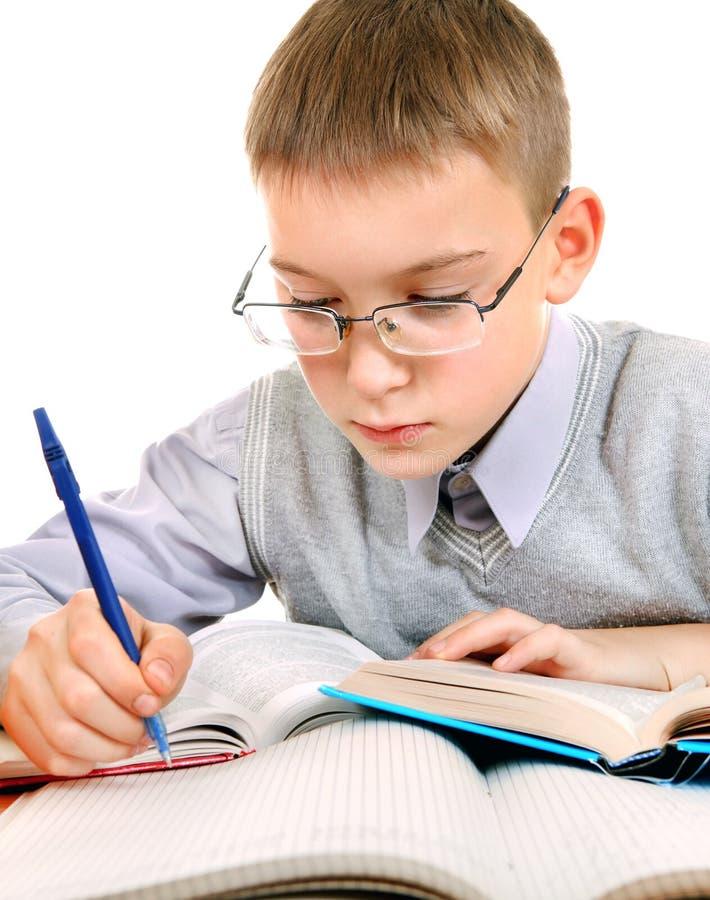 Kid doing Homework stock image