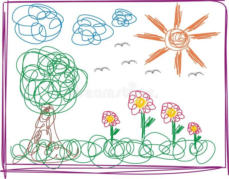 Kid Drawing Stock Photos