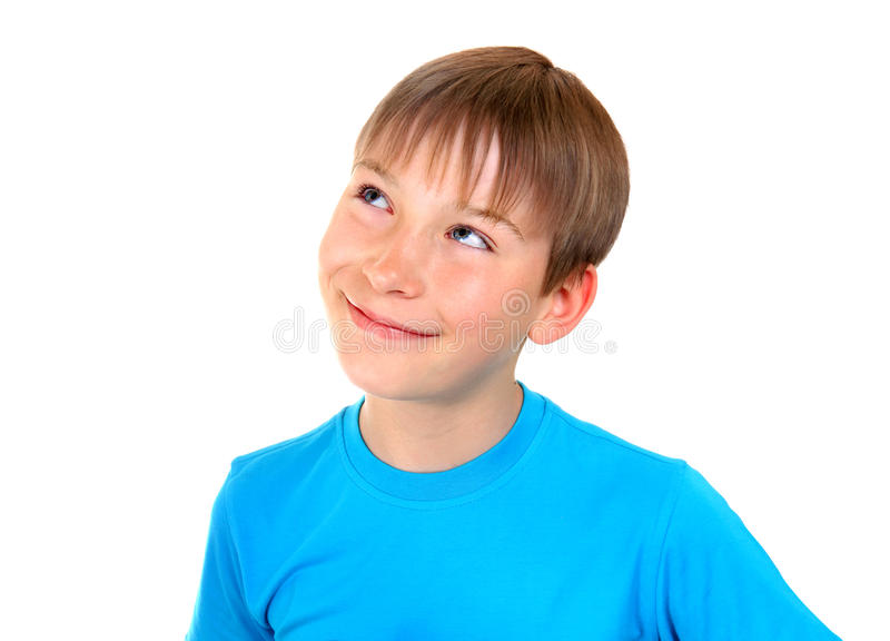 Kid is dreaming stock photos