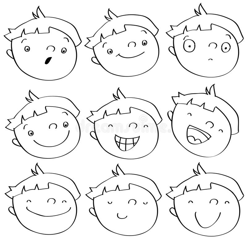 Download Kid expressions stock vector. Image of face, grin, funny - 11521662