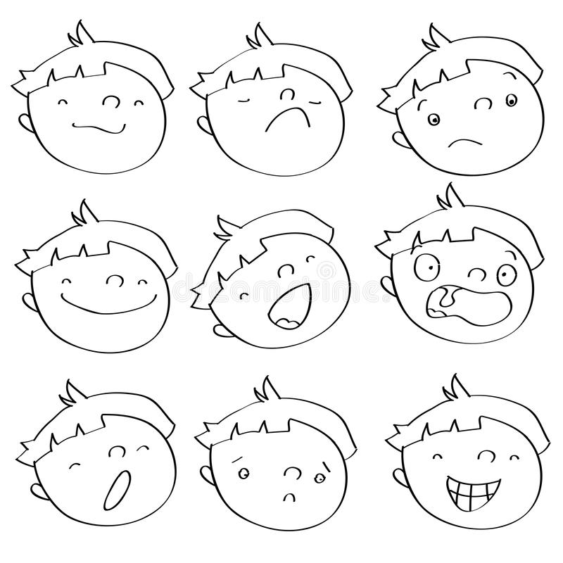 Download Kid expressions stock vector. Image of glad, different - 9744769