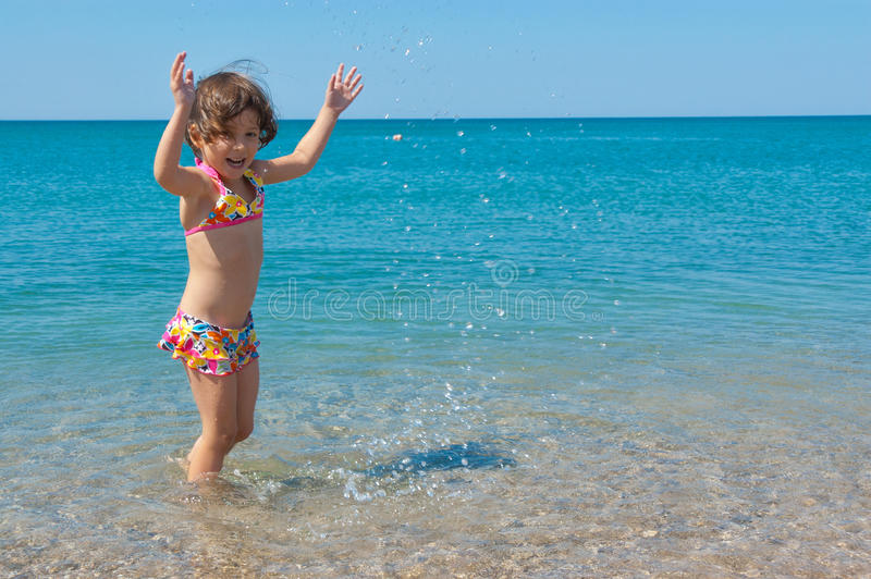 Download Kid On Family Summer Beach Vacation Stock Image - Image of person, blue: 24465119
