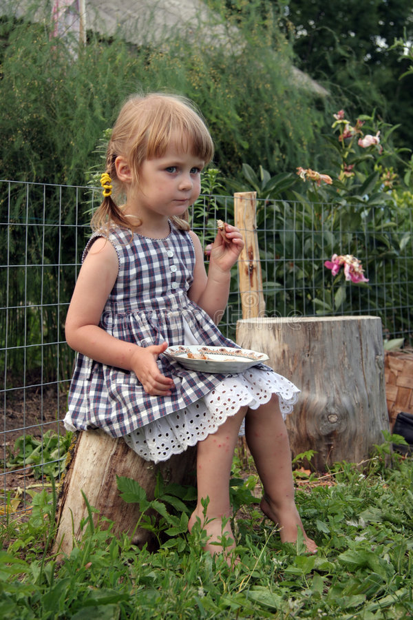Kid in farm royalty free stock photography