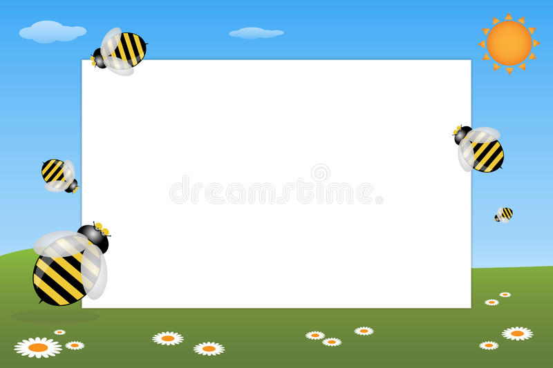 Kid frame - bees royalty free illustration