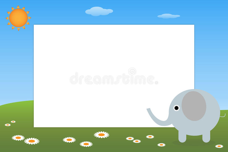 Kid frame - elephant stock vector. Illustration of illustration ...