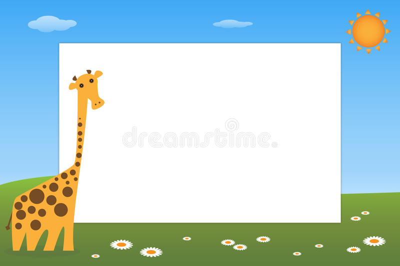 Kid frame - giraffe. Illustration of a frame for kid with a cute giraffe.EPS file available vector illustration