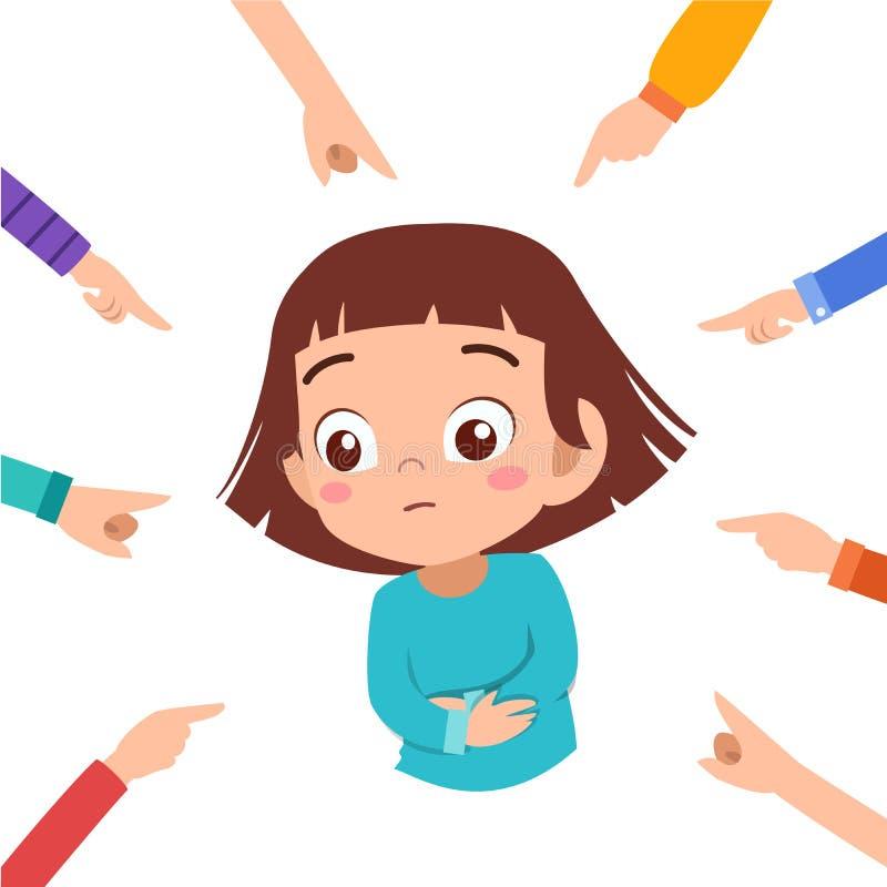 kid girl bullying vector illustration royalty free illustration