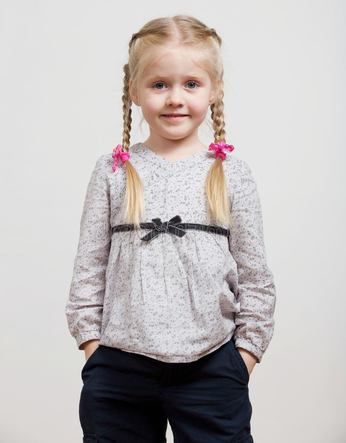 Kid girl fashion isolated portrait royalty free stock image