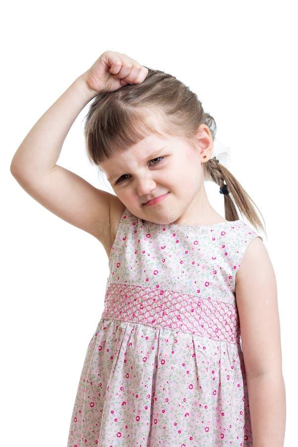 Download Kid Girl Having Bad Mood Isolated Stock Photo - Image: 39973990