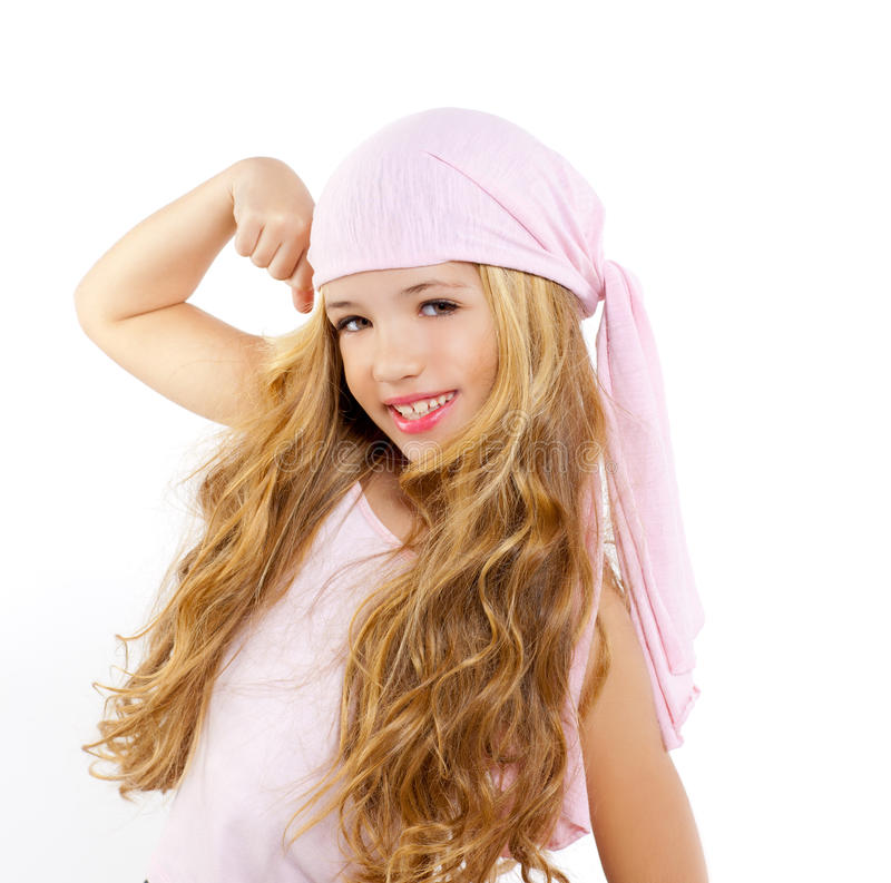 Download Kid Girl With Pirate Handkerchief Stock Photo - Image: 23151012