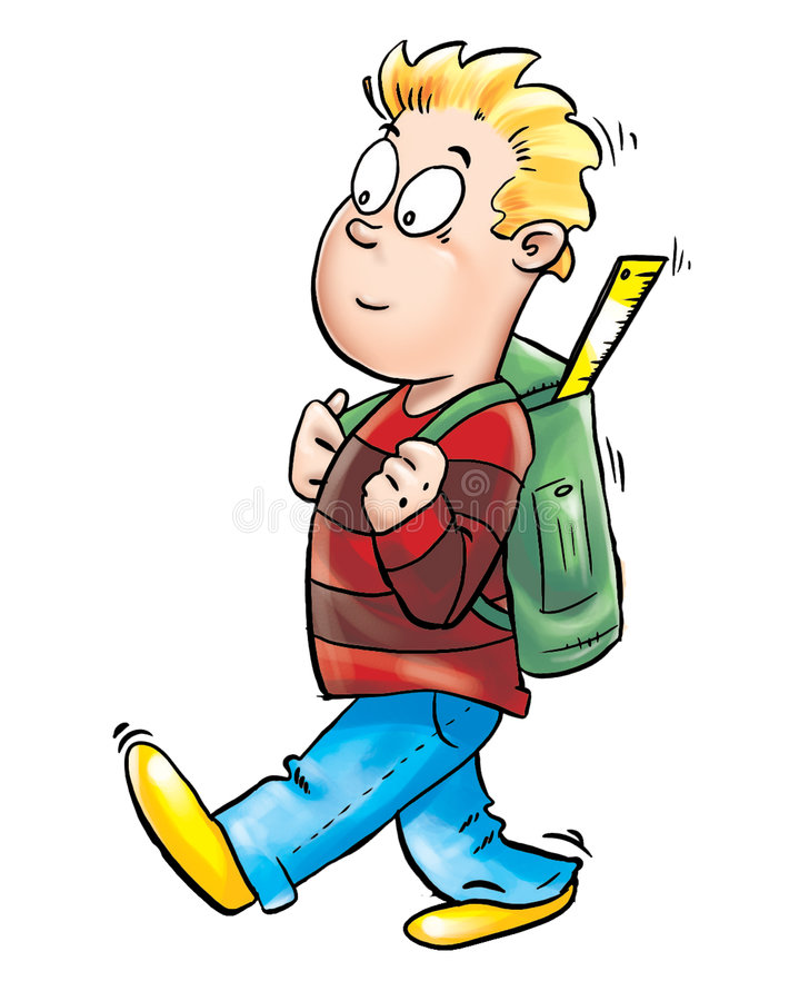 Download Kid going to school stock illustration. Illustration of college - 9325742
