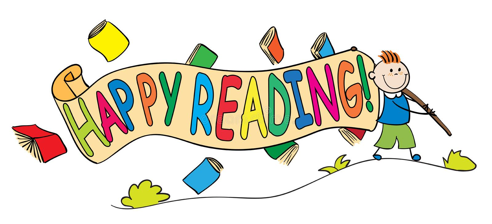 Image result for happy reading clipart