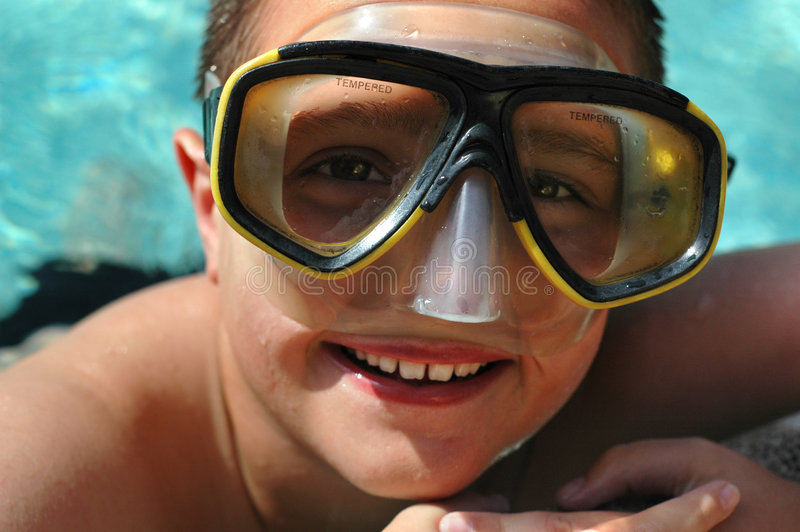 Download Kid having summer fun stock image. Image of goggles, face - 2458579