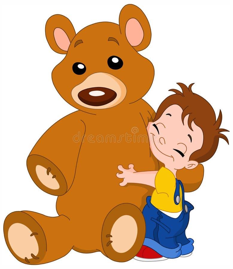 Download Kid hug bear stock vector. Image of embrace, cute, drawing - 14067164