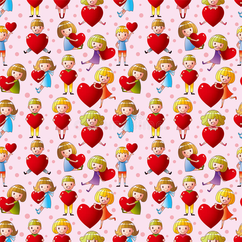 Download Kid Hug Heart Seamless Pattern Stock Vector - Image: 23608431