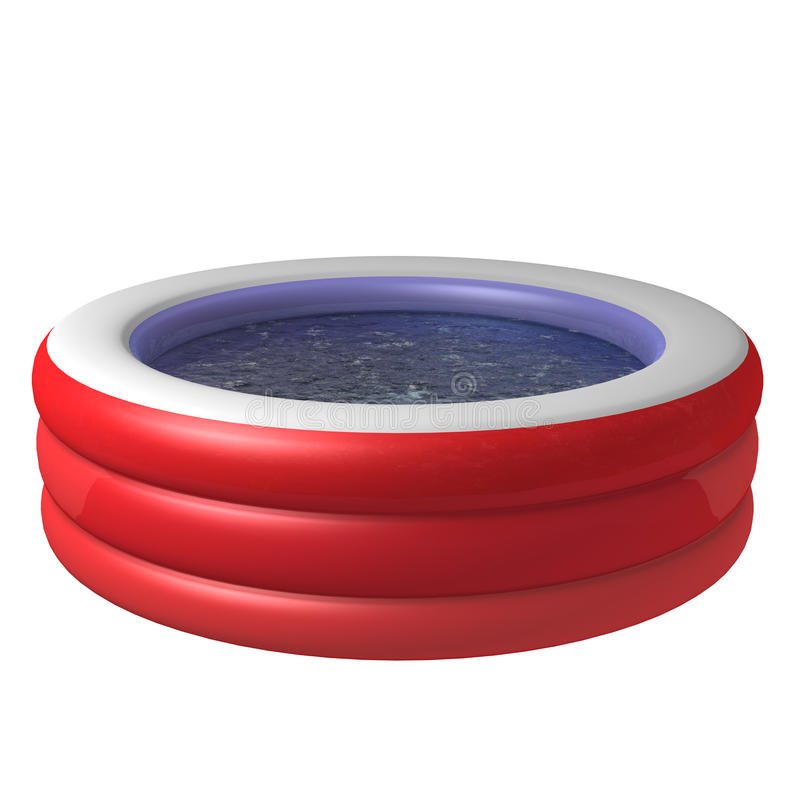 Kid inflatable pool stock illustration