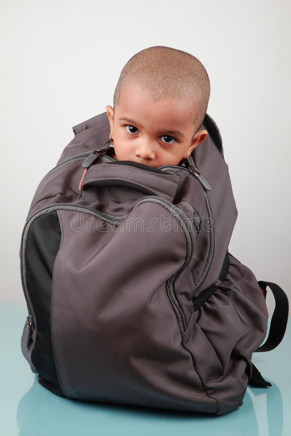 Download A kid inside a bag stock photo. Image of little, concept - 23589206