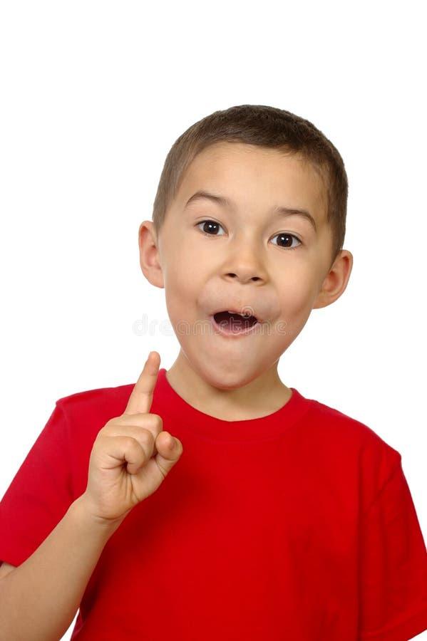 Kid with an inspiration stock photos
