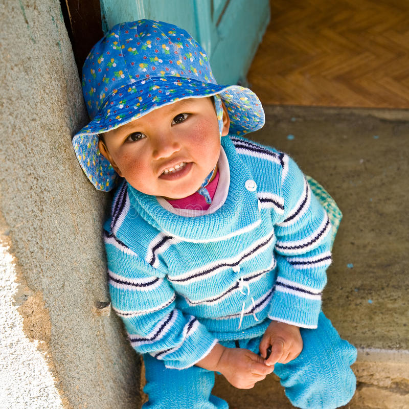 Kid from La Paz royalty free stock images