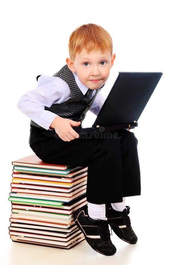 Kid Laptop Royalty Free Stock Images