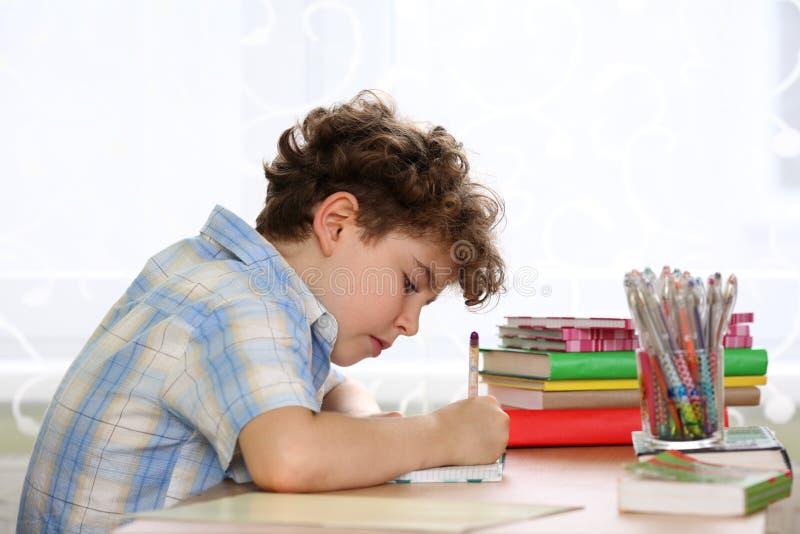 Kid learning stock photos