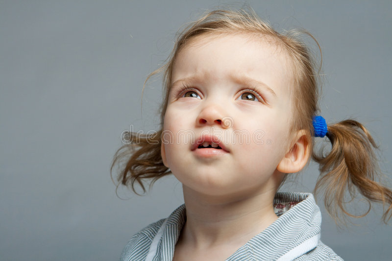 Download Kid looking up stock photo. Image of look, curious, astonished - 8189618