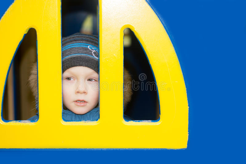 Download Kid looking from a window stock image. Image of caucasian - 27902101