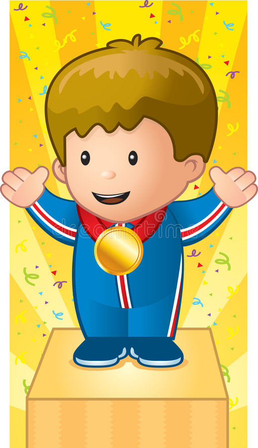 Download Kid Medal stock vector. Image of medal, podium, award - 1952972