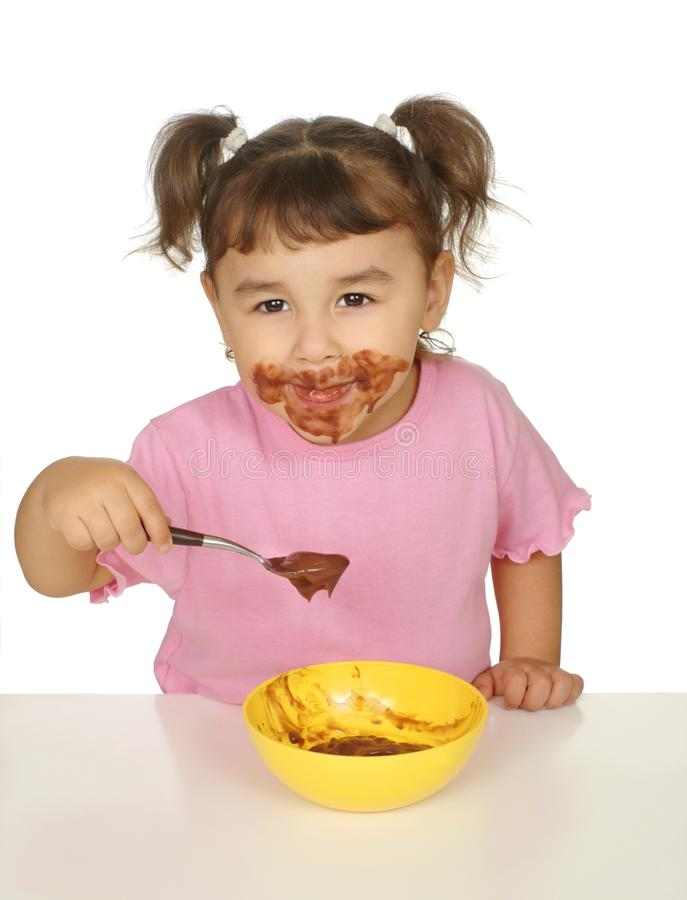 Download Kid with messy face stock photo. Image of enjoy, adorable - 13573020