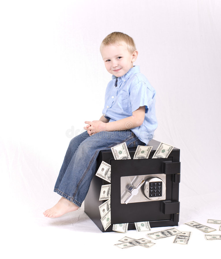 Kid With Money Royalty Free Stock Images