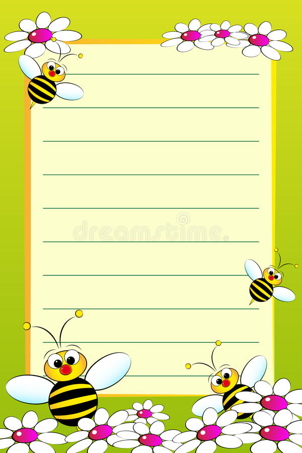 Kid notebook with blank lined page vector illustration
