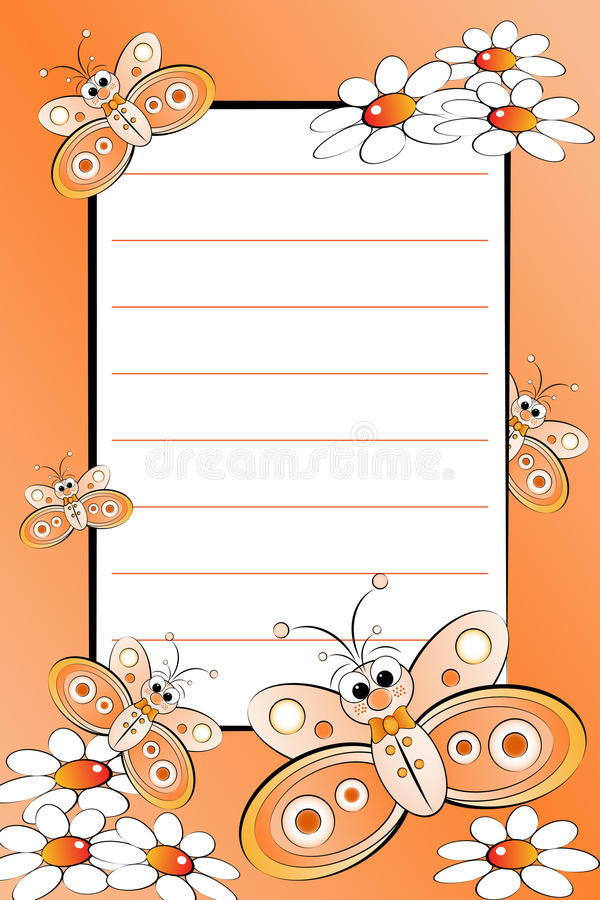 Kid notebook with blank lined page royalty free illustration