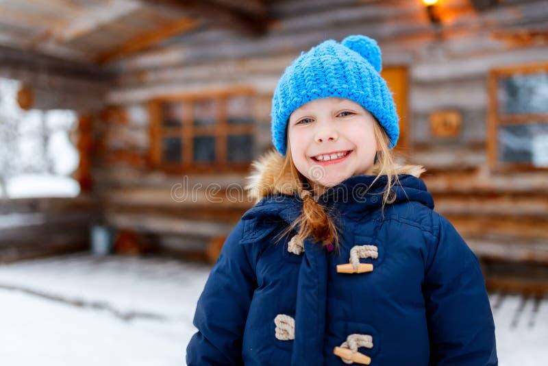 Kid outdoors on winter stock photos