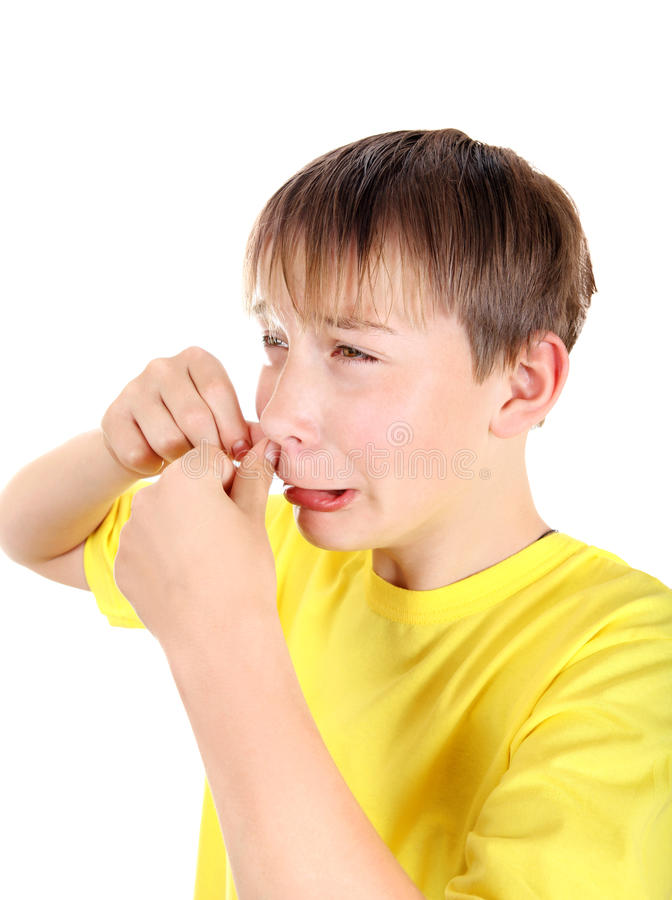 Kid with Pimple royalty free stock photos