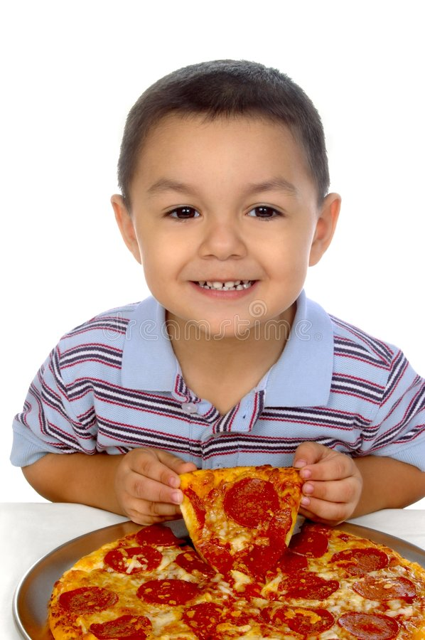 Download Kid and pizza 3 years old stock photo. Image of over, three - 7086694