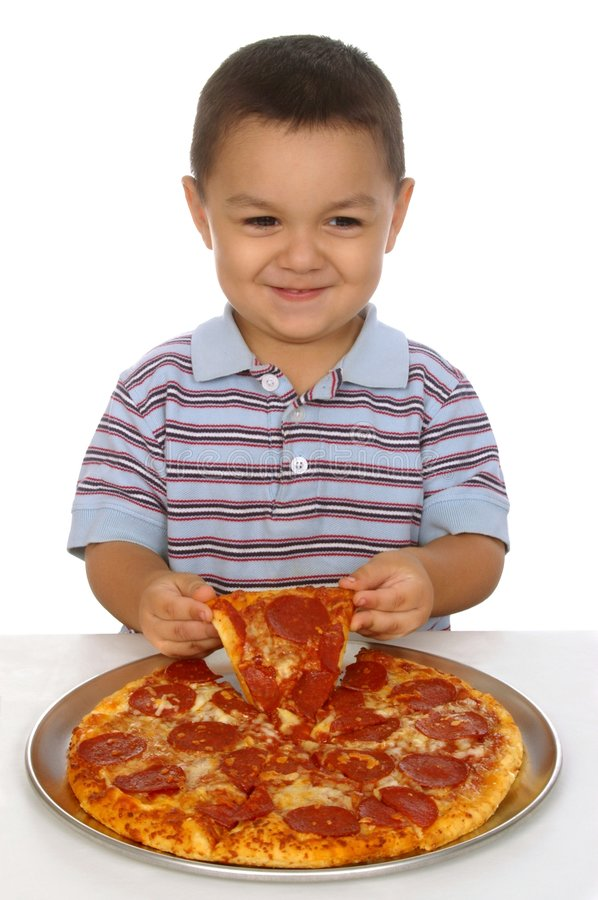 Download Kid And Pizza Royalty Free Stock Image - Image: 6109186