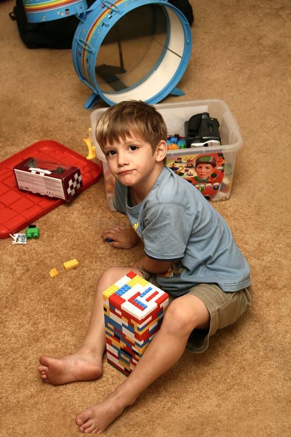 Kid playing royalty free stock photos