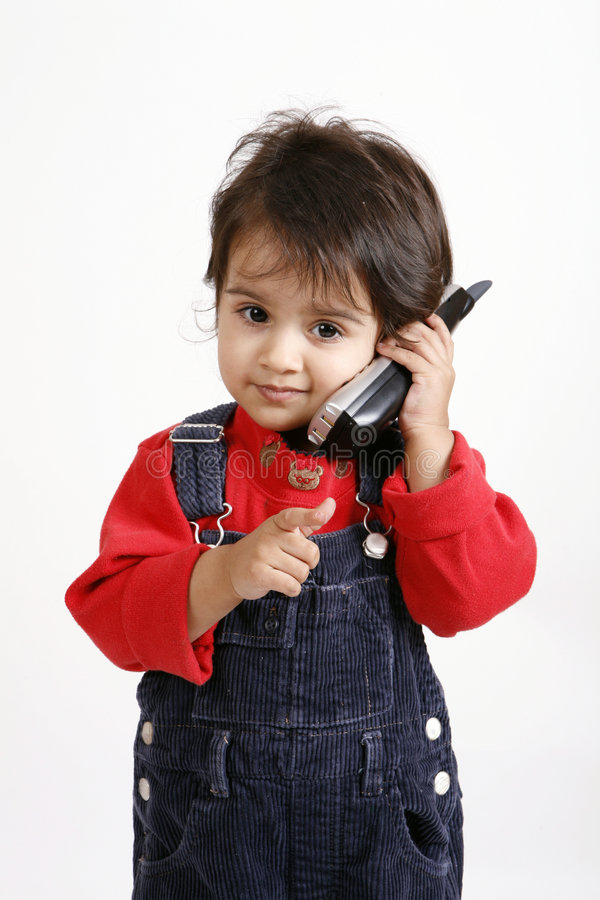 Download Kid playing with phone stock image. Image of smart, wireless - 8272817