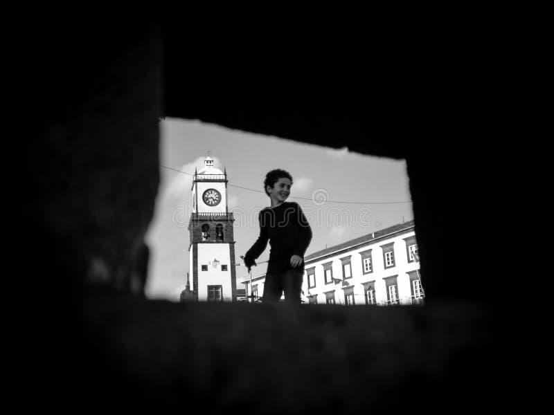 Kid in Ponta Delgada stock image