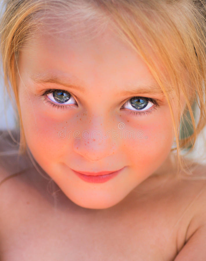 Kid portrait royalty free stock photo