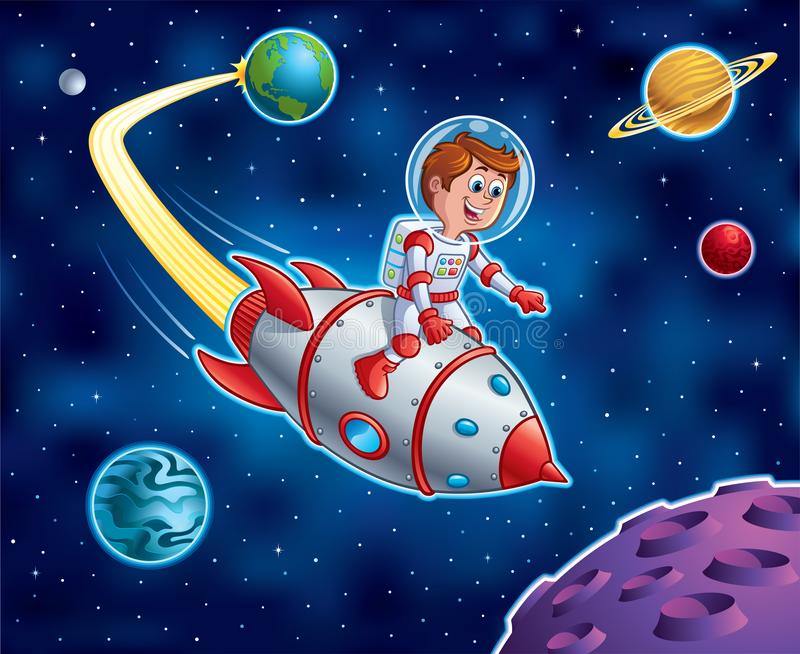 Rocket Ship Blasting From Earth Stock Illustration