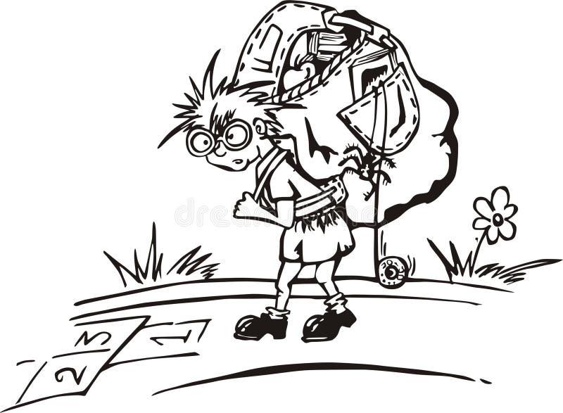 Download Kid with rucksack stock vector. Illustration of street - 17398426