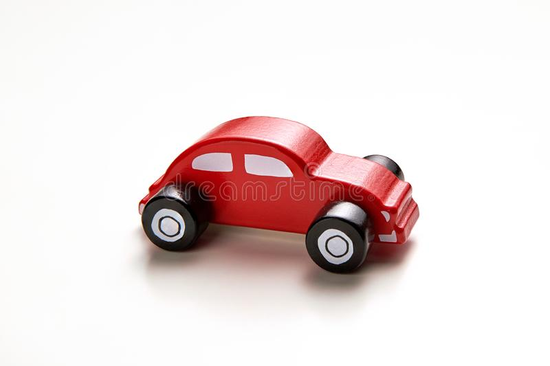 Kid`s toy. Homemade wood kid`s car. royalty free stock image