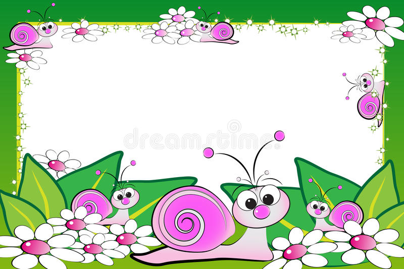 Kid scrapbook with blank frame message royalty free illustration
