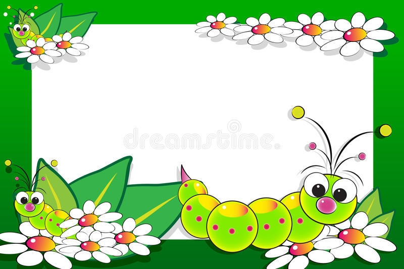 Kid scrapbook with blank frame message vector illustration