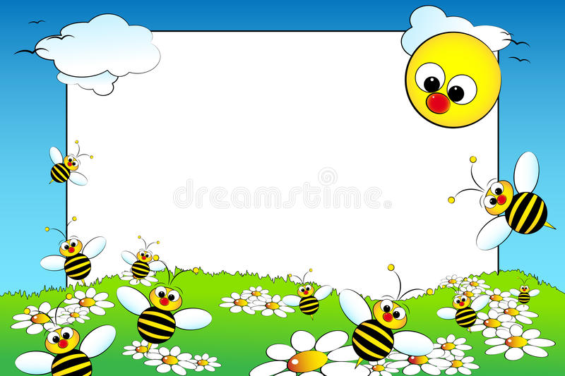 Download Kid Scrapbook With Blank Frame Message Stock Vector - Image: 9613008
